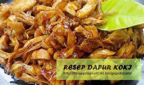 resep  membuat ayam suwir bumbu kecap enak resep
