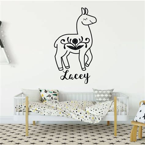 personalized home decor personalized wall decor llama wall decor