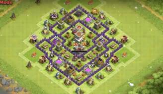 Th7 Base Layout Th7 War Trophy Hybrid Base Defense Town Hall 7 » Ideas Home Design