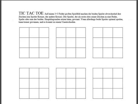 Vorlage Word Memory Tic Tac Toe Pdf Vorlage Chip