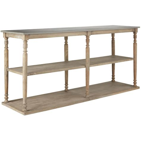 wood console table with shelves parkstead oka