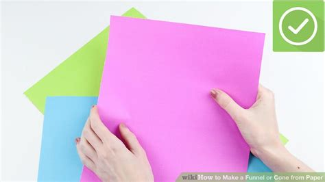 How To Make A Cone From Paper - 4 ways to make a funnel or cone from paper wikihow
