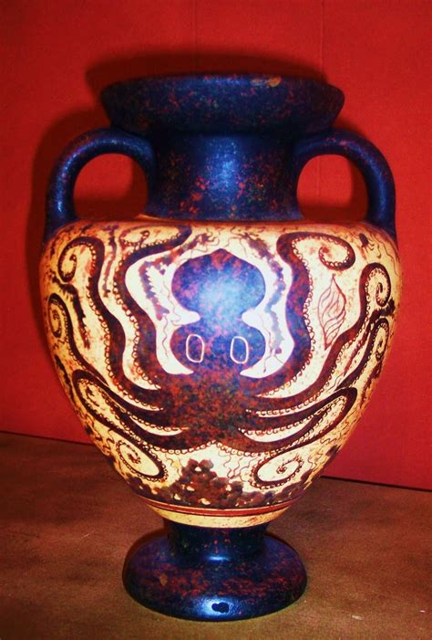 Minoan Octopus Vase by Minoan Octopus Vase Ancient