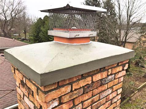 Chimney Mortar Crown Repair - concrete crown repair replacement indianapolis chimney