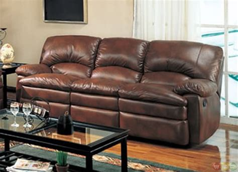 Walter Reclining Sofa And Love Seat Brown Bonded Leather Brown Leather Living Room Set