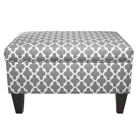 Upholstered Storage Ottoman Mjlfurniture Upholstered Square Legged Box Storage Ottoman Reviews Wayfair Ca