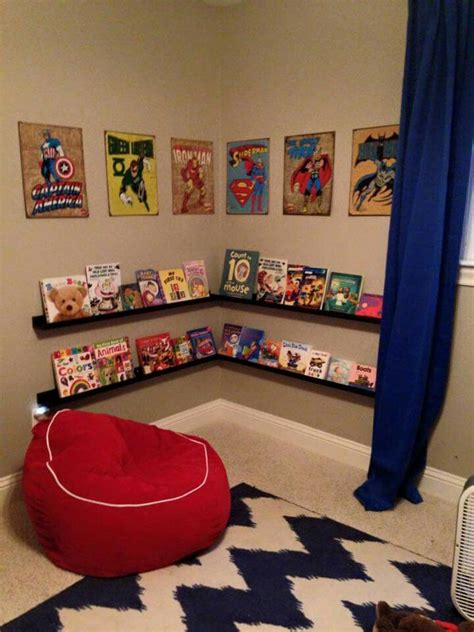 superhero bedroom decorations superhero reading corner boys room pinterest