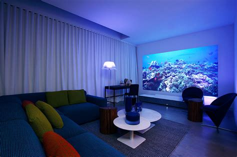 projector in bedroom quot bedroom escape quot designed by ddc for sony 4k ultra short