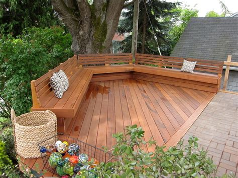 Round Dining Table With Curved Bench Project Gallery Traditional Deck Seattle By