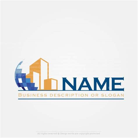 create a logo construction company logo template