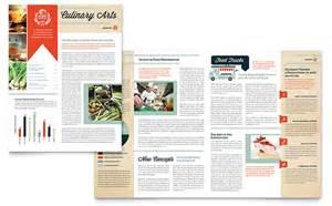 culinary newsletter template design