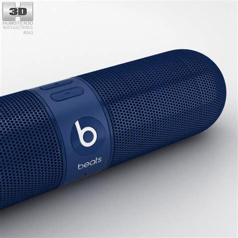 Beats Pill 2 0 beats pill 2 0 wireless speaker blue 3d model hum3d