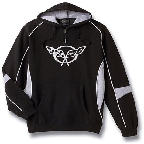corvette sweatshirt c5 corvette 1997 2004 black gray hooded sweatshirt