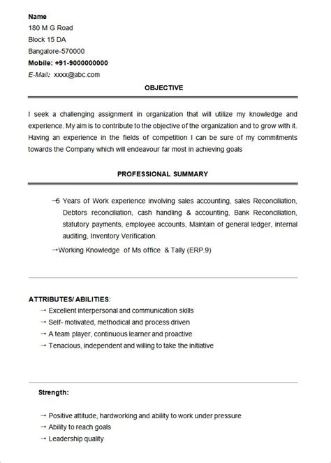 Resume Templates For Graduates Bcom Graduate Resume Sle