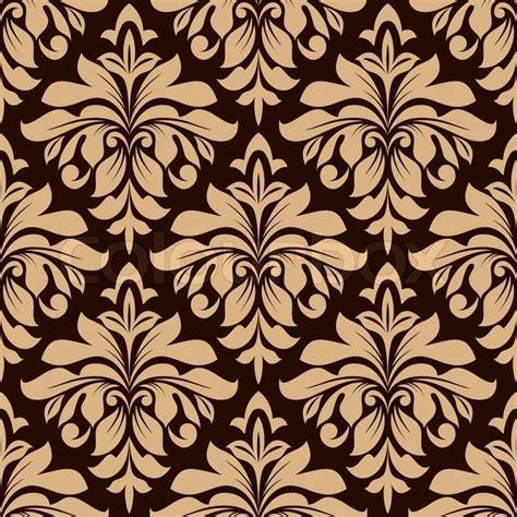 brown flower pattern light brown floral seamless pattern on dark brown