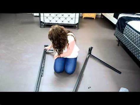 How To Put A Bed Frame Together Youtube How To Put Together A Size Metal Bed Frame
