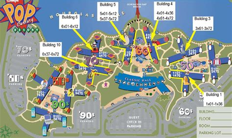 all resort map preferred rooms pop century refurb the dis disney discussion forums disboards