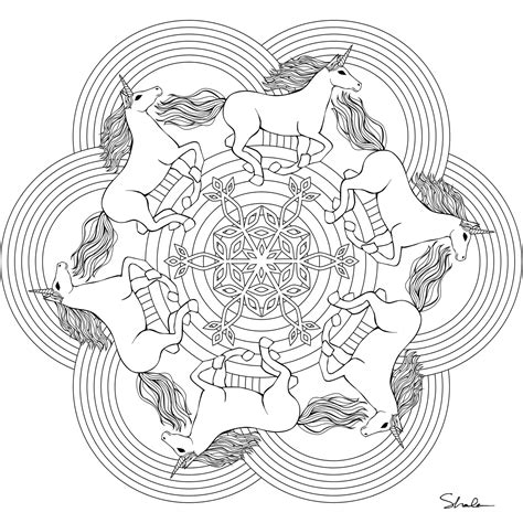 rainbow mandala coloring pages don t eat the paste unicorn rainbow mandala