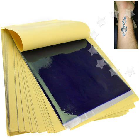 tattoo transfer paper ebay uk new 50 x tattoo thermal carbon stencil transfer paper