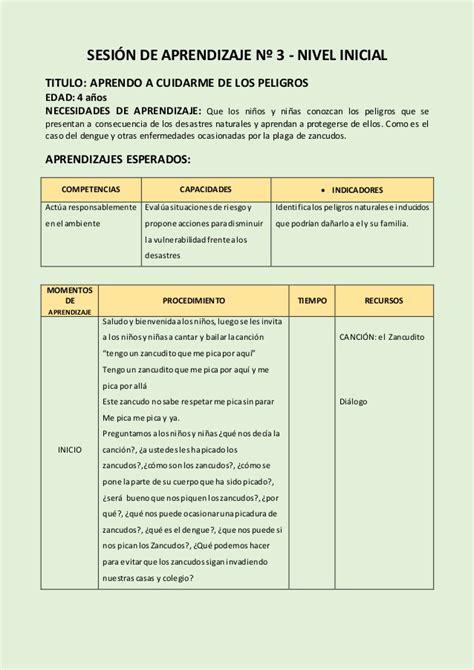 sesiones de aprendizaje de nivel inicial 2015 sesiones inicial