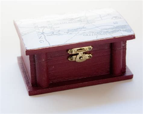 lord of the rings treasure chest wooden box decoupaged with