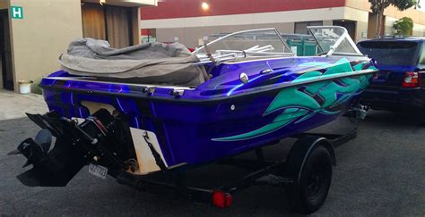 boat paint decals custom boat wrap for 18 foot bayliner monster image
