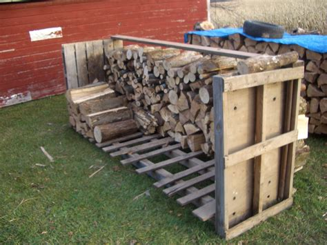 diy outdoor firewood rack storage using reclaimed wood in