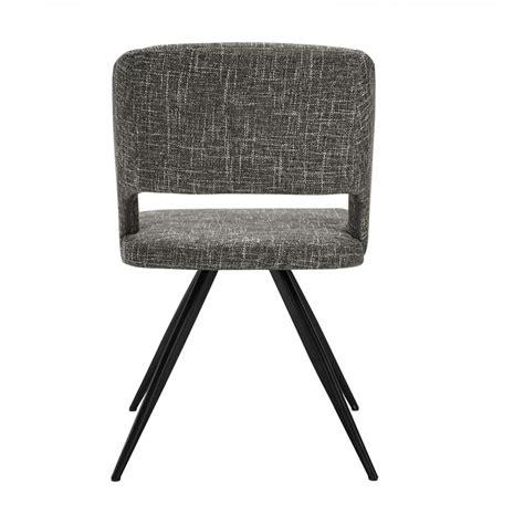 modern grey dining chairs palmer modern grey fabric dining chair set of 2