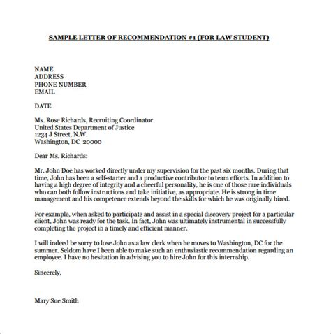 Free College Letter Of Recommendation Template Recommendation Letter For College Template Resume Builder