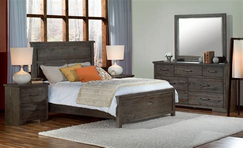 pine ridge  piece queen bedroom set slate leons
