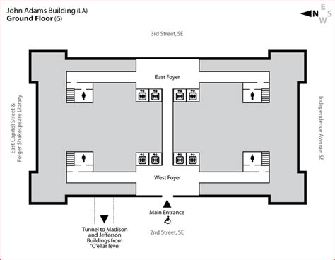 library of congress floor plan adams building ground floor library of congress