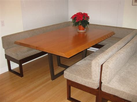 Dining Room With Bench Seating by Live Edge Dining Table With Custom Bench Seating