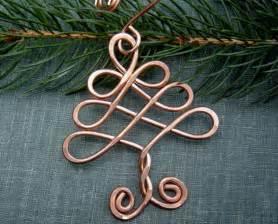celtic tree ornament christmas tree holiday ornament