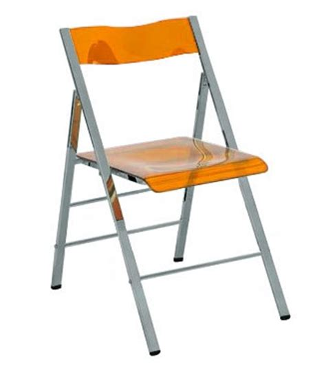 acrylic folding chairs set of 2 clarity acrylic folding chairs in clear orange