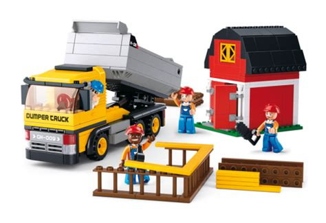 Lego Sluban M38 B0558 Construction sluban dump truck m38 b0552 slubanshop compatible with other brick brands