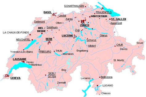 map of switzerland and germany with cities suisse carte