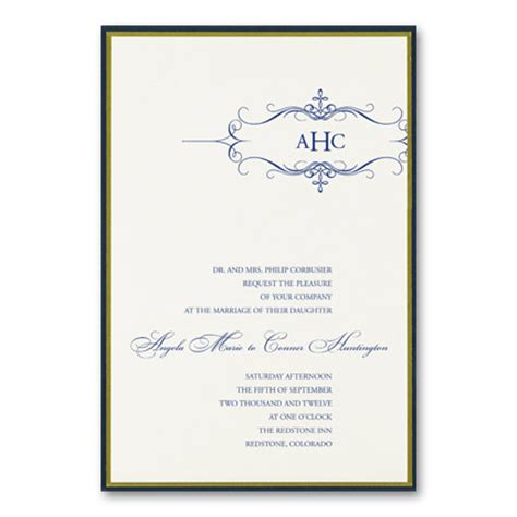 formal wedding invitation wording parte one