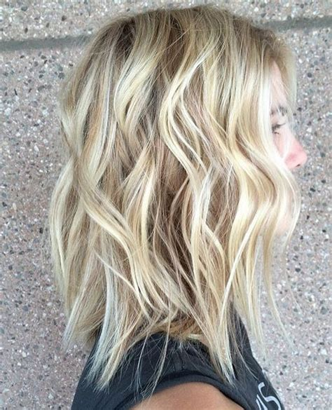 textured lob by kahli pierrot s hair studios mt lawley kalamunda it it length shoulder cut paired with summer blonde