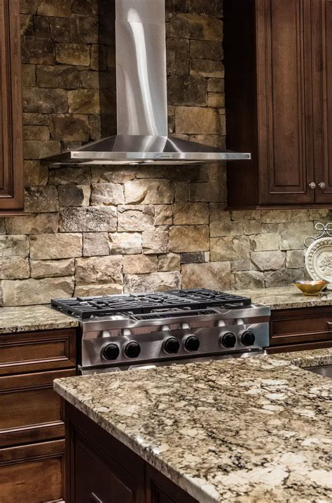 kitchen stone backsplash ideas stone kitchen backsplash in interior design ideas