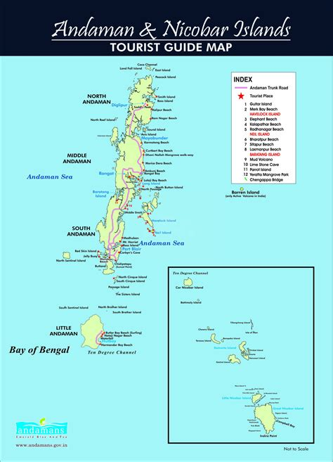 Andaman And Nicobar Outline Map by Map Of Andaman And Nicobar Island Go2andaman