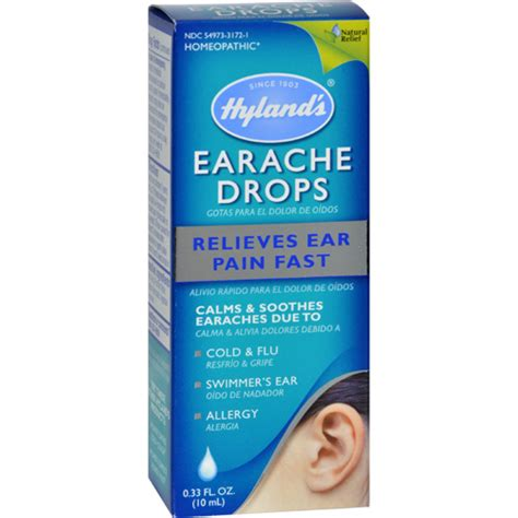 Ear Aches During A Detox by Bettymills Earache Drops 0 33 Fl Oz Hyland S 0550939