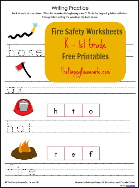 fire safety worksheets free printable friday the happy