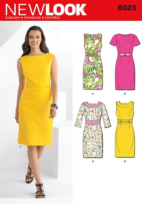 pattern review new look 6022 purchase new look 6023 misses dresses and read its