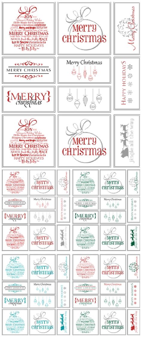 printable christmas card paper the best free christmas printables gift tags holiday