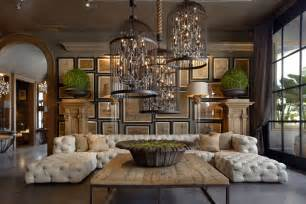 Tuscan Style Chandeliers Restoration Hardware Opens New Gallery In Scottsdale