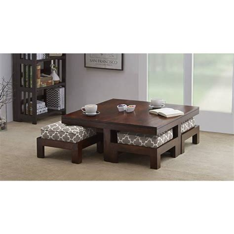 sofa cum dining table wooden center table set of 5 furniture online by rightwood