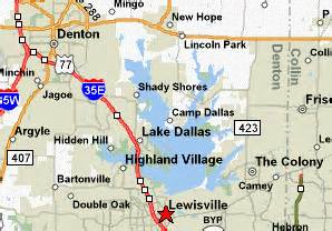 map of lewisville lake lewisville visitors guide