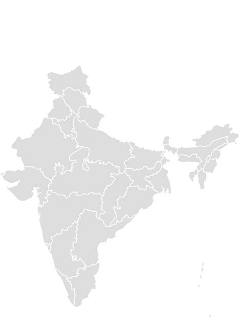 INDIA Blank Map Maker - Printable Outline , Blank Map of INDIA