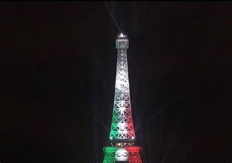 torre eiffel illuminata natale 2016 la torre eiffel 232 bianco rosso verde europei