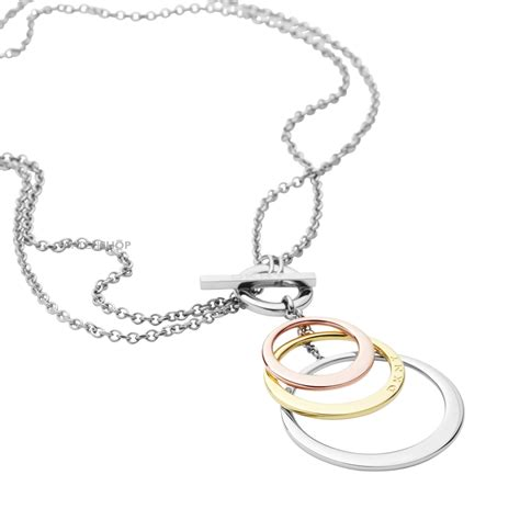 Dkny Tambang Gold Plat Gold by Dkny Two Tone Steel Gold Plate Necklace Nj1825040